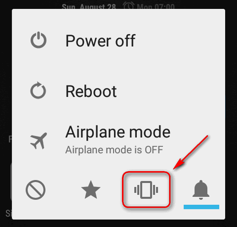 silent mode power menu