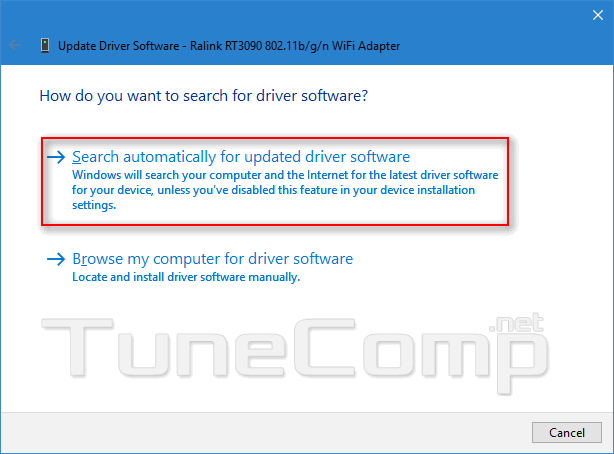 wifi no internet update driver automatically