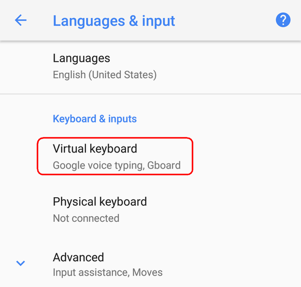 How to Add Another Input Language on Android 9, 8, 7, 6 or