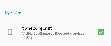 Disable Bluetooth visibility timeout on Samsung Galaxy