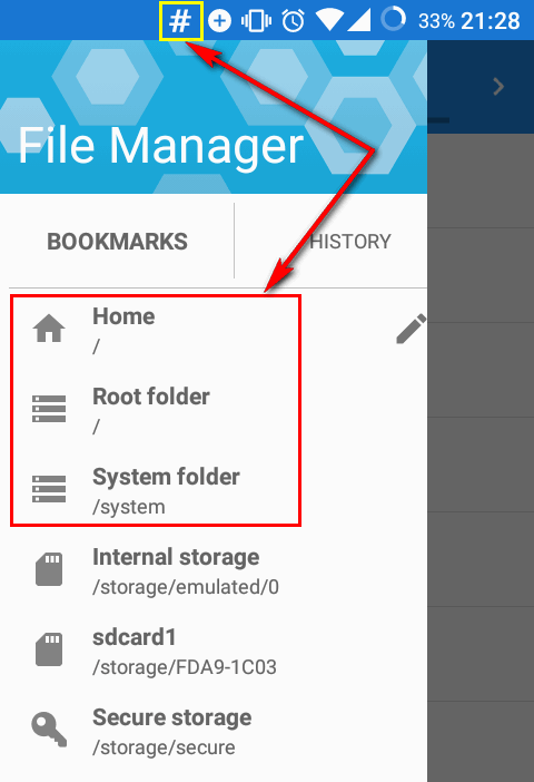 hash-icon-hidden-partitions-root-folder