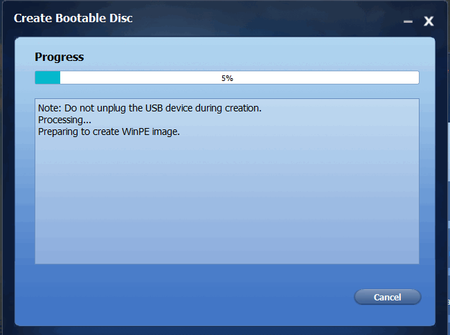 preparing-bootable-disk-progress