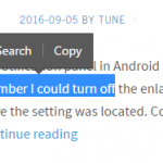 How to disable the Search/Copy popup on selecting text in Opera