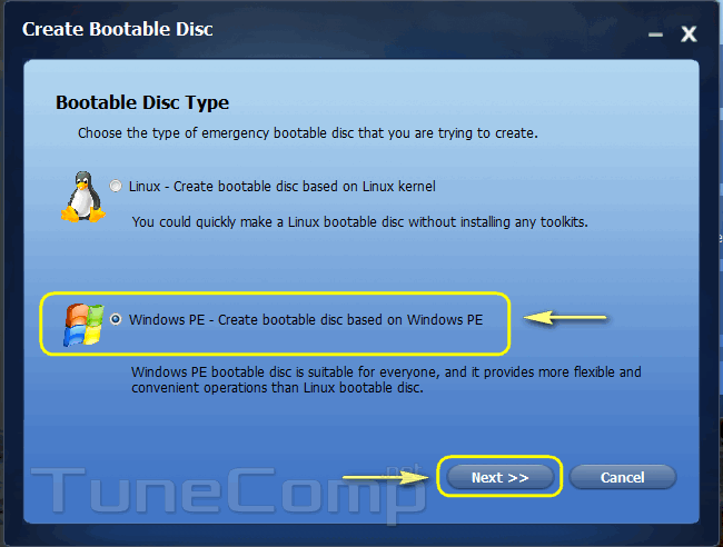 windows-pe-create-bootable-disk-based-on-windows-pe