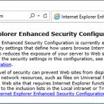 Disable Internet Explorer Enhanced Security Configuration in Windows Server 2016