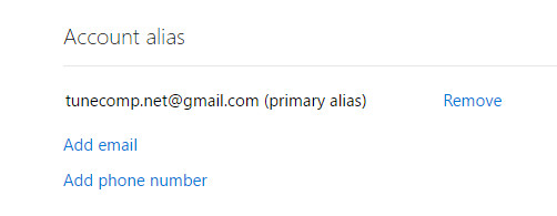 old email has been removed