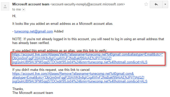 verify your new primary email