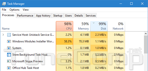 windows defender high disk usage