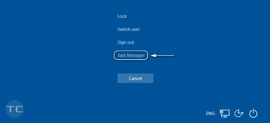Launch the task manager