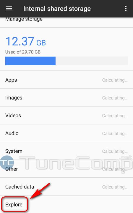 Explore storage Google Pixel