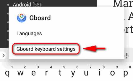 How to add the number row to Google Keyboard (GBoard)