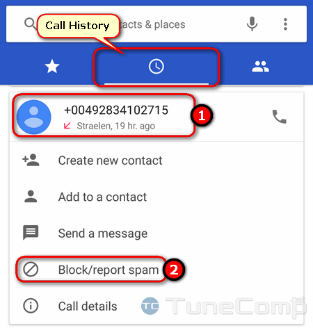 block phone number on Google Pixel