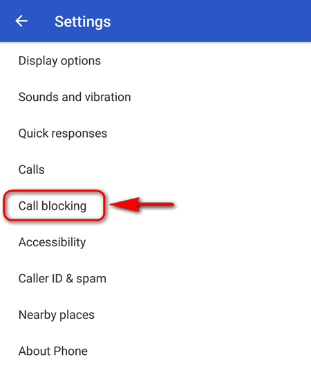 call blocking Android 7