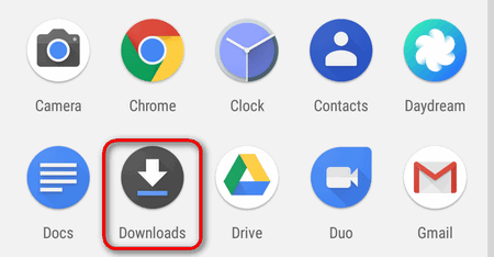 downloads app android nougat