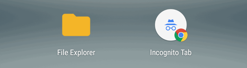 file explorer (file manager) on Google Pixel