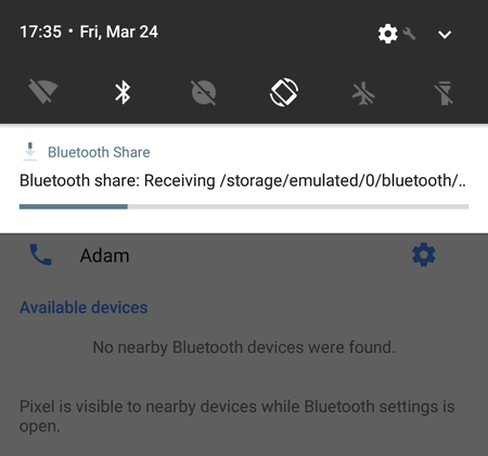 file transfer over bluetooth