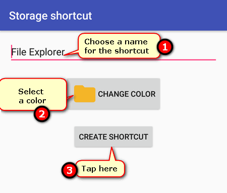 how to create a shortcut to FIle Manager on Google Pixel