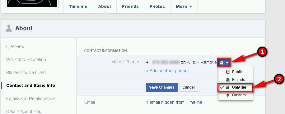 How to hide your phone number on Facebook  Prevent your