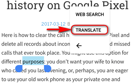 select translate