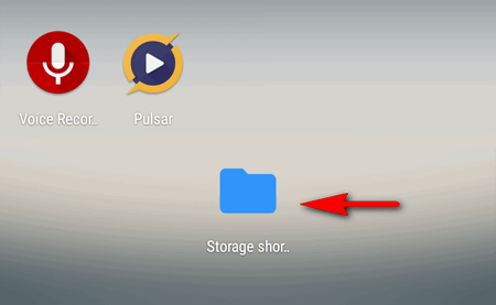 storage shortcut