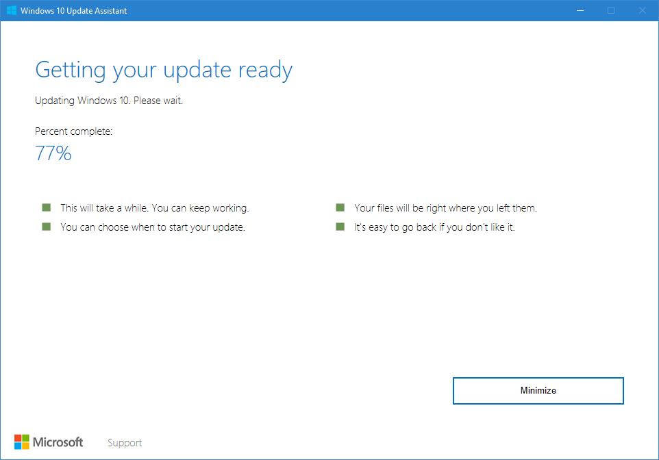 Update installation