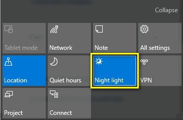 night light toggle