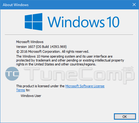 os version and build before installing Creators update