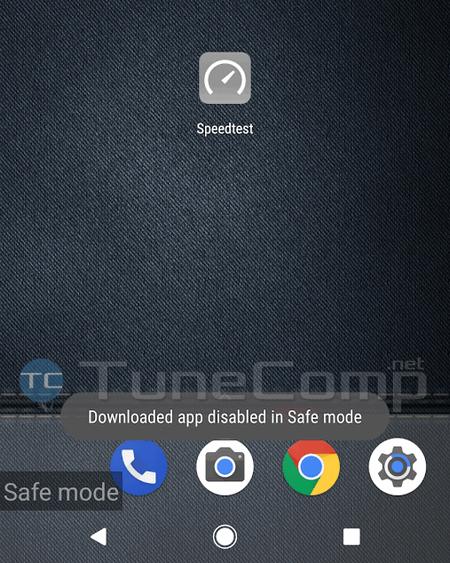 downloaded app disabled in Safe Mode