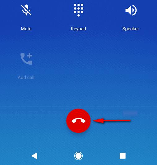 end a call