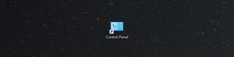 Control Panel shortcut in Windows 10 Creators Update