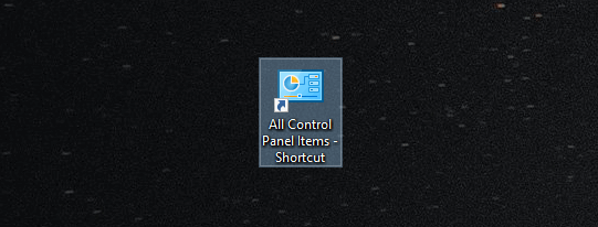 Control Panel shortcut on Windows 10 Creators Update