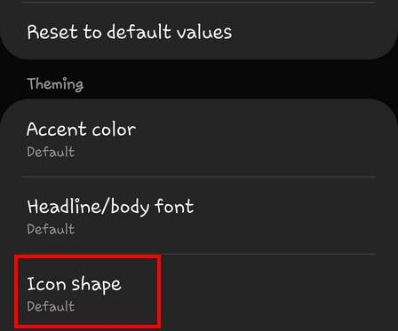 change icon shape OneUI 2 Galaxy S