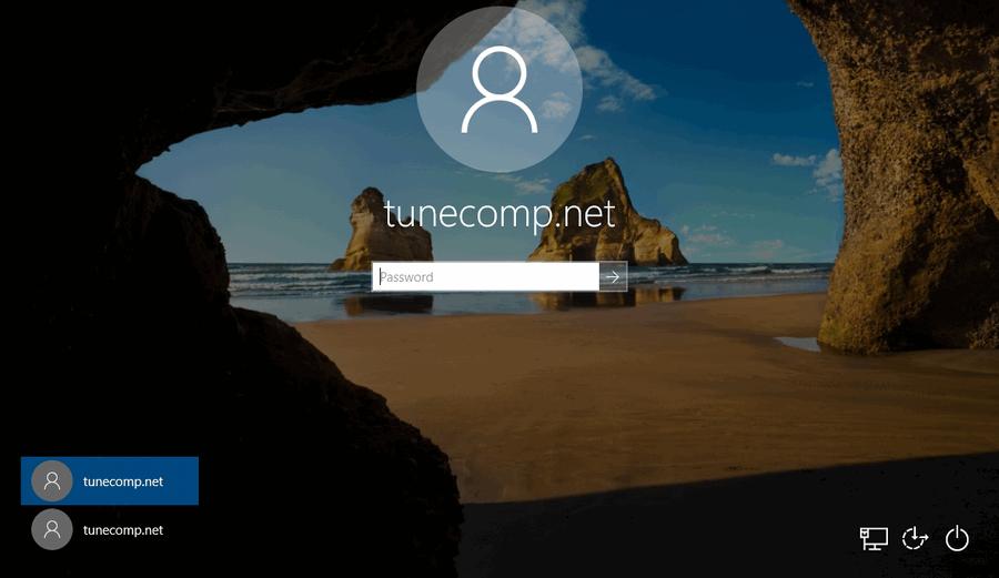 duplicate user account names on Windows 10 welcome screen