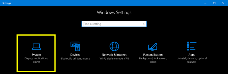 settings system