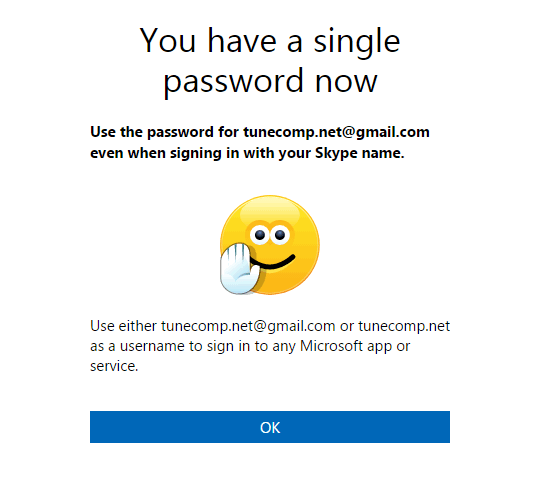 single password now