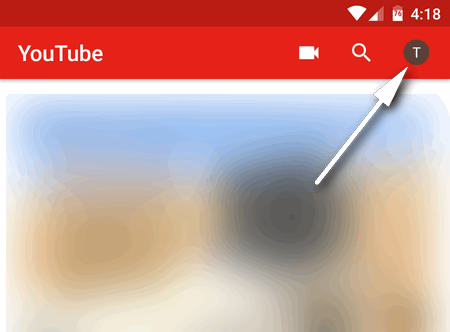 YouTube account icon