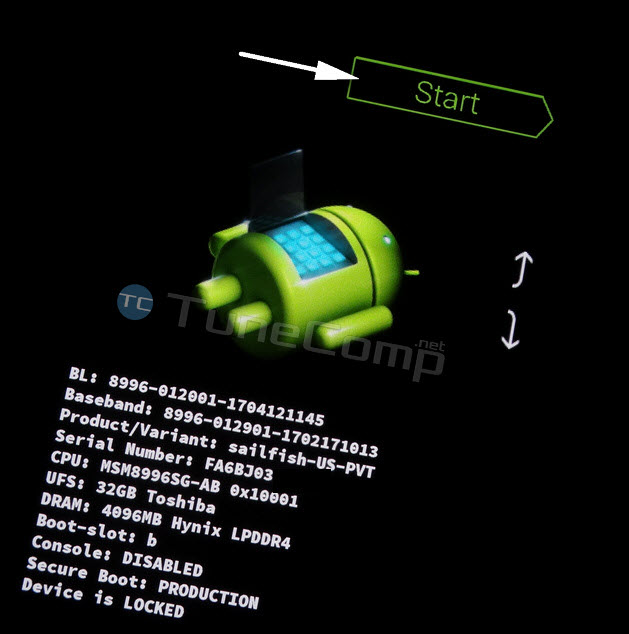 start booting from bootloader