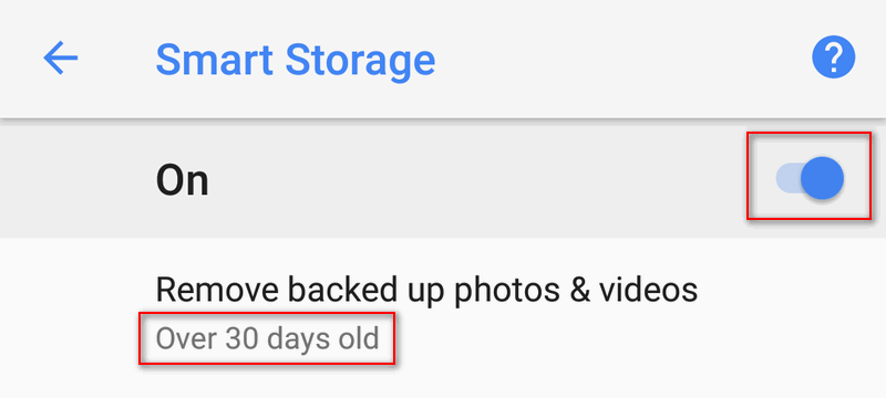 30 days remove backed up