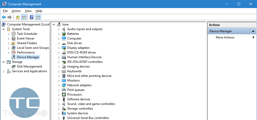 Computer Management Device Manager