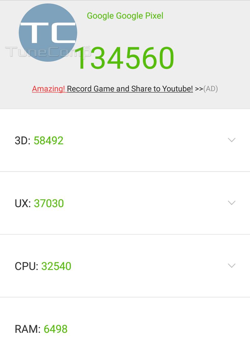 Google Pixel AnTuTu Android 8.0