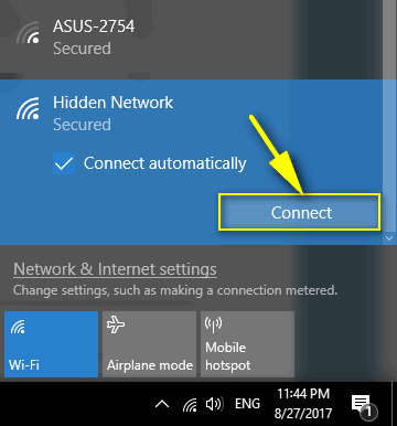 Connect To A Hidden WiFi Network On Windows 10, Android and iOS