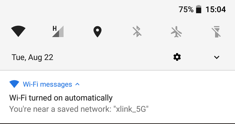 you are near a saved network