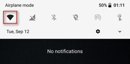 Wi-Fi icon quick toggles