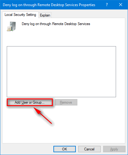 Disable Remote Desktop Access (RDP) For Administrator On