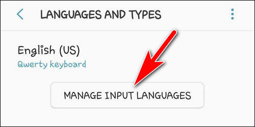 Manage input languages S9