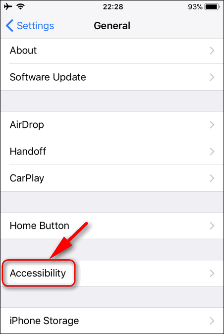 Accessibility Settings iOS 11.1