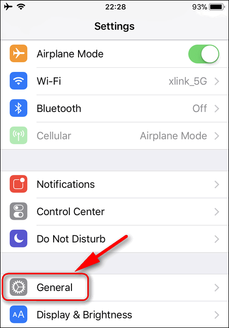 General Settings iOS 11.1