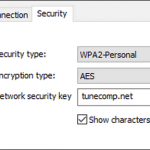 Wireless Network Security Key Windows 10