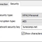 Wireless Network Security Key Windows 10