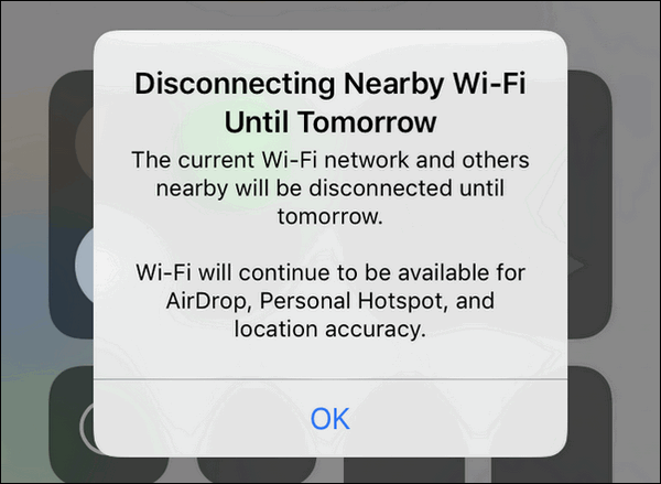 Wi-Fi will continue to be available
